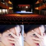 montage photo - timidité et scène de théâtre